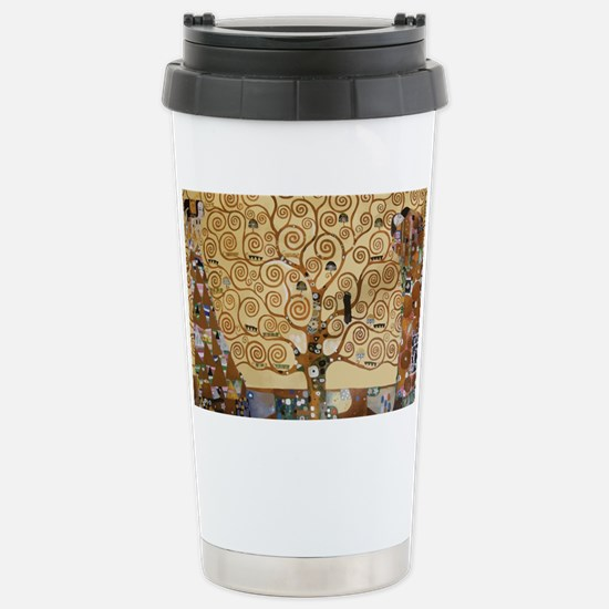 Gustav Klimt Tree Of Li Stainless Steel Travel Mug