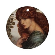 Dante Gabriel Rossetti Proserpine Round Ornament