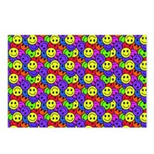 Rainbow Smiley Face Patte Postcards (Package of 8)