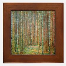 Gustav Klimt Pine Forest Framed Tile