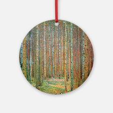 Gustav Klimt Pine Forest Round Ornament