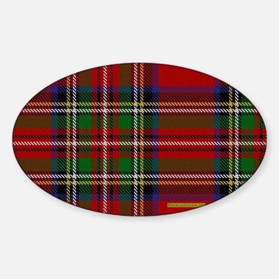 Stewart Tartan Plaid Sticker (Oval)