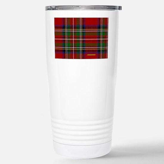 Stewart Tartan Plaid Stainless Steel Travel Mug