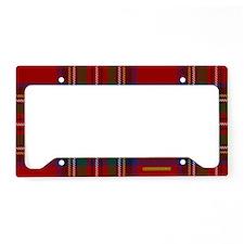 Stewart Tartan Plaid License Plate Holder
