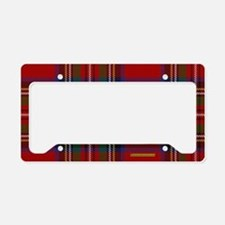 Stewart Tartan Plaid License Plate Holder