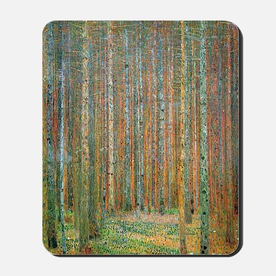 Gustav Klimt Pine Forest Mousepad