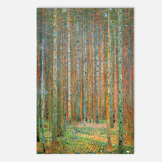 Gustav Klimt Pine Forest Postcards (Package of 8)