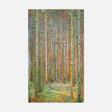 Gustav Klimt Pine Forest Decal
