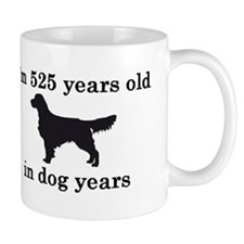 75 birthday dog years golden retriever 2 Mugs