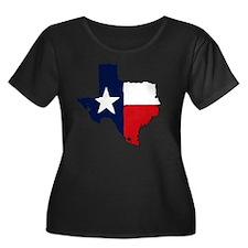 Texas Women's Plus Size Dark Scoop Neck T-Shirt