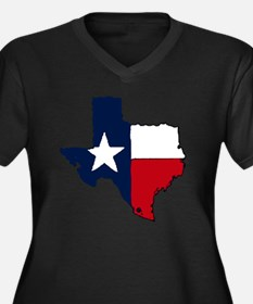 Texas Women's Plus Size Dark V-Neck T-Shirt