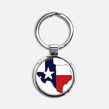 Texas Round Keychain