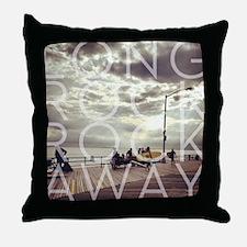 Long Rock Rockaway Surfers Throw Pillow