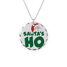 Santa's Ho Necklace Circle Charm