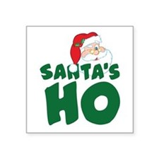 "Santa's Ho Square Sticker 3"" x 3"""