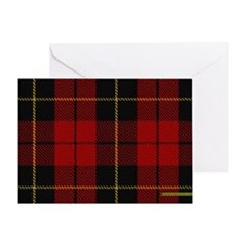 Wallace Tartan Shoulder Bag Greeting Card