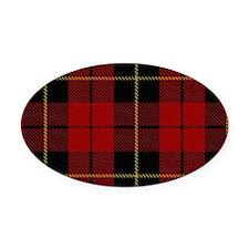 Wallace Tartan Shoulder Bag Oval Car Magnet