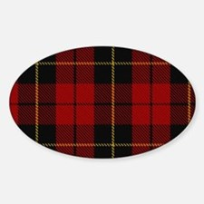 Wallace Tartan Shoulder Bag Sticker (Oval)