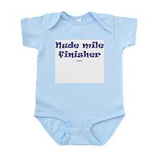 Nude Mi Finisher - Run naked Infant Bodysuit