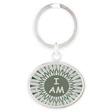 I AM Oval Keychain