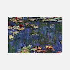 Claude Monet Water Lilies Rectangle Magnet