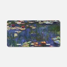 Claude Monet Water Lilies Aluminum License Plate