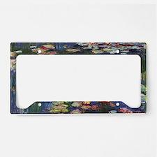 Claude Monet Water Lilies License Plate Holder