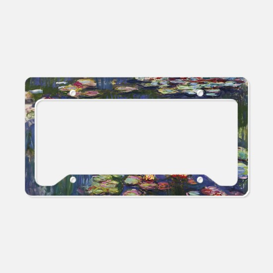Claude Monet Water Lilies License Plate Holder