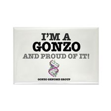 IM A GONZO AND PROUD OF IT - GENO Rectangle Magnet