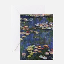 Claude Monet Water Lilies Greeting Card
