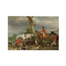 Vintage Painting of the Hunt Rectangle Magnet