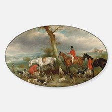 Vintage Painting of the Hunt Decal