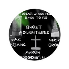 """Going Ghost Adventures  Curtain 3.5"""" Button"""