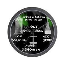 Going Ghost Adventures  Curtain Wall Clock