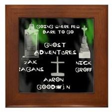 Going Ghost Adventures  Curtain Framed Tile