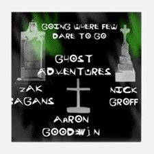 Going Ghost Adventures  Curtain Tile Coaster