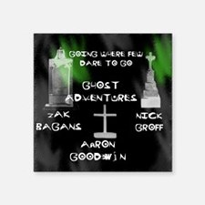 "Going Ghost Adventures  Cur Square Sticker 3"" x 3"""