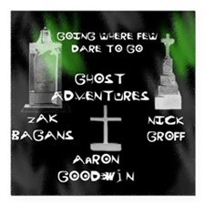 "Going Ghost Adventures   Square Car Magnet 3"" x 3"""