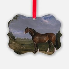 Vintage Painting of Clydesdale St Ornament