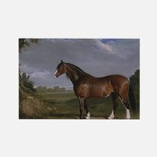 Vintage Painting of Clydesdale St Rectangle Magnet