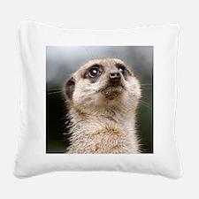 Alert Meerkat 5x7 Rug Square Canvas Pillow
