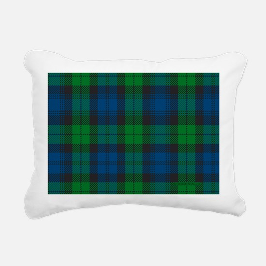 Black Watch Tartan Plaid Rectangular Canvas Pillow