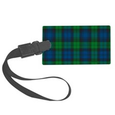 Black Watch Tartan Plaid Luggage Tag