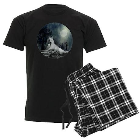 White Wolf and Pup Men's Dark Pajamas