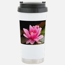 Pink Water Lily Travel Mug