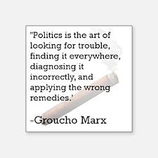 "Groucho Marx Square Sticker 3"" x 3"""