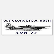USS GEORGE H.W.  BUSH CVN-77 Bumper Bumper Sticker