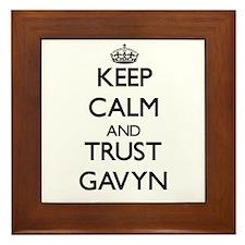 Keep Calm and TRUST Gavyn Framed Tile