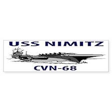 USS NIMITZ CVN-68 Bumper Sticker