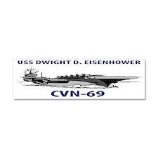 USS DWIGHT D. EISENHOWER CVN-69 Car Magnet 10 x 3
